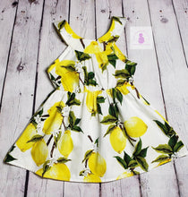 Load image into Gallery viewer, Lots o' Lemons Dress - LilChic BabyBug Boutique LLC