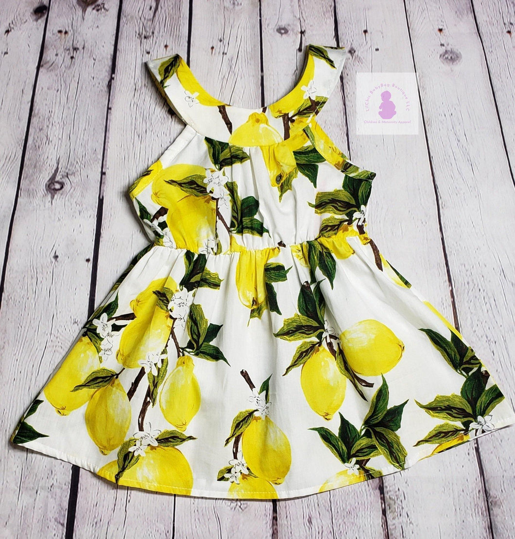 Lots o' Lemons Dress - LilChic BabyBug Boutique LLC