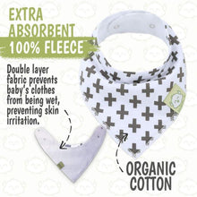 Load image into Gallery viewer, Organic Baby Bandana Bibs (Baby Boss) - LilChic BabyBug Boutique LLC