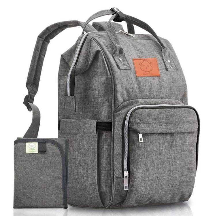 Original Diaper Backpack (Classic Gray) - LilChic BabyBug Boutique LLC