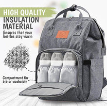 Load image into Gallery viewer, Original Diaper Backpack (Classic Gray) - LilChic BabyBug Boutique LLC
