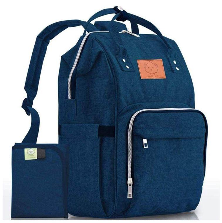 Original Diaper Backpack (Navy Blue) - LilChic BabyBug Boutique LLC