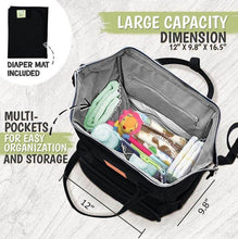 Load image into Gallery viewer, Original Diaper Backpack (Trendy Black) - LilChic BabyBug Boutique LLC
