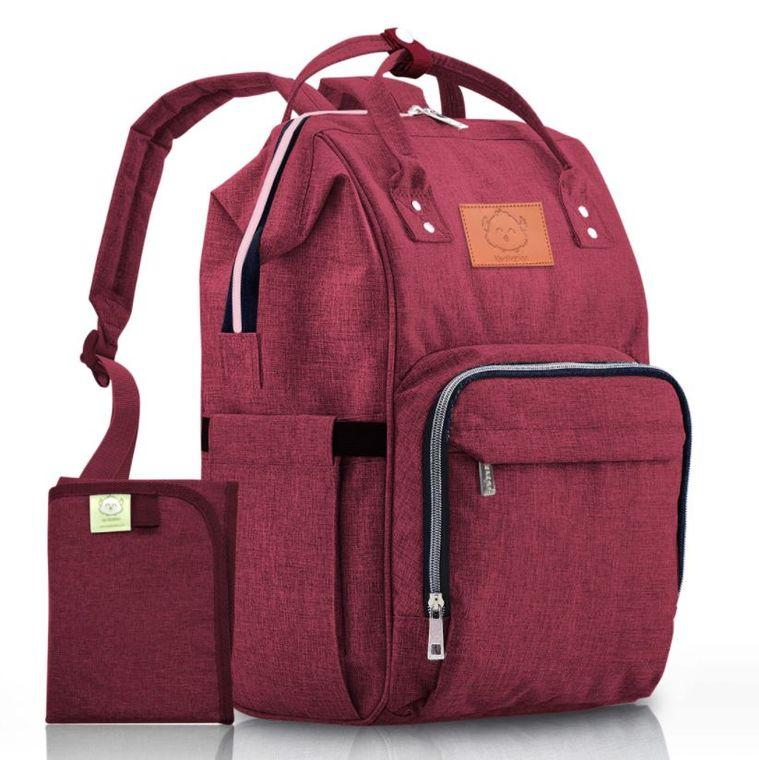 Original Diaper Backpack (Wine Red) - LilChic BabyBug Boutique LLC