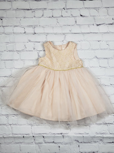 Peach Princess Dress (used) - LilChic BabyBug Boutique LLC