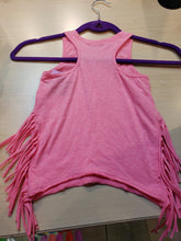 Load image into Gallery viewer, Pink Fringe Tank - LilChic BabyBug Boutique
