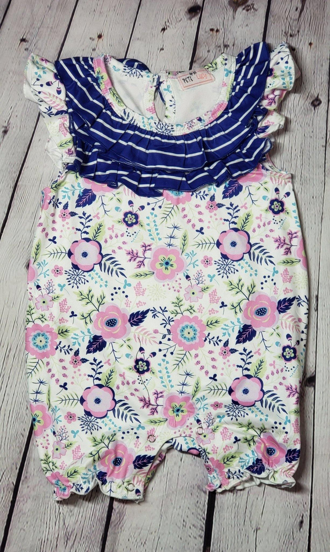 Pretty Like A Flower Infant Romper - LilChic BabyBug Boutique LLC