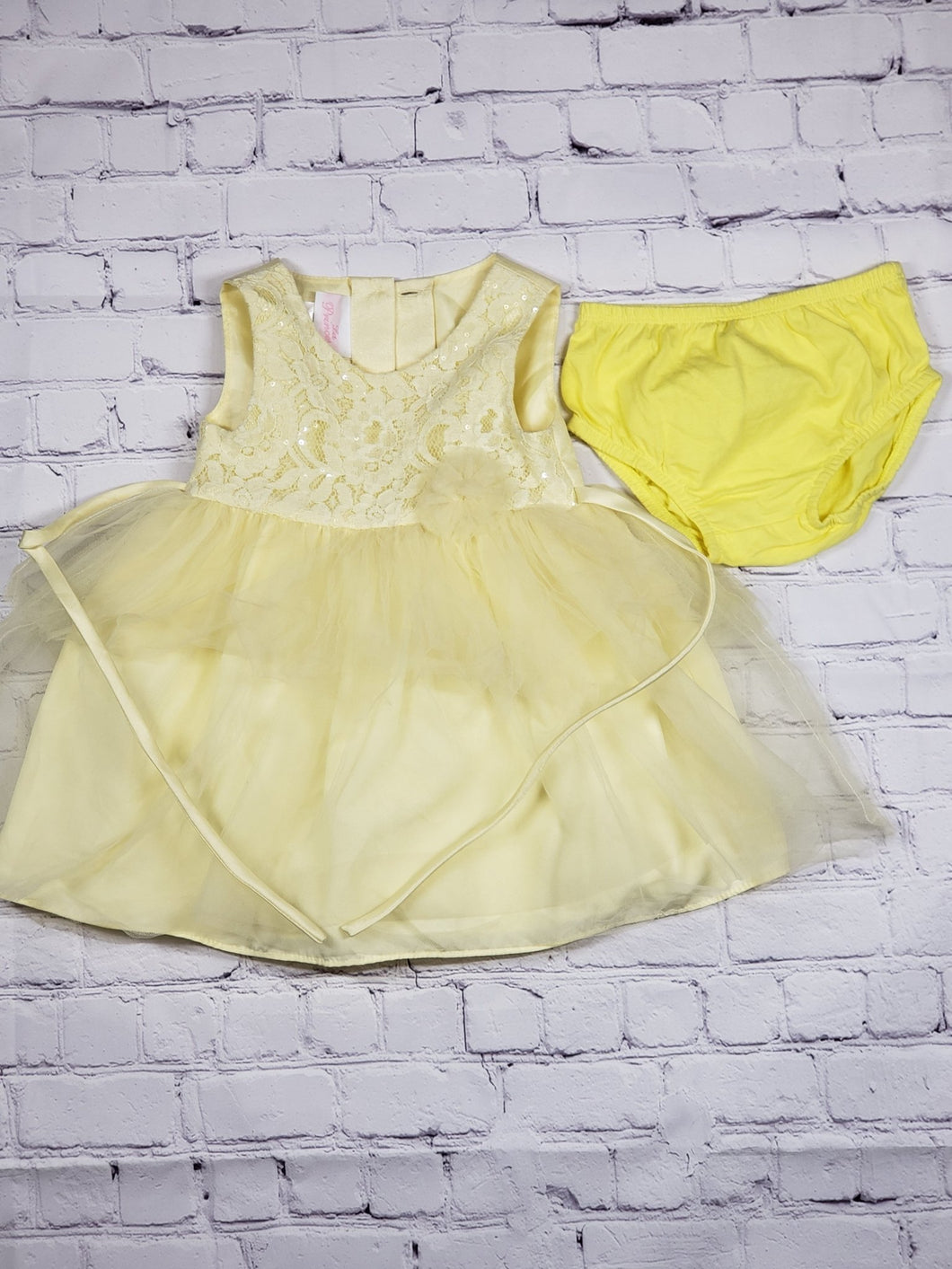 Princess Sunshine Dress - LilChic BabyBug Boutique LLC