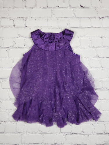 Purple Sparkle Dress (used) - LilChic BabyBug Boutique LLC
