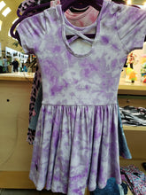 Load image into Gallery viewer, Purple/White Tie Dye Dress - LilChic BabyBug Boutique