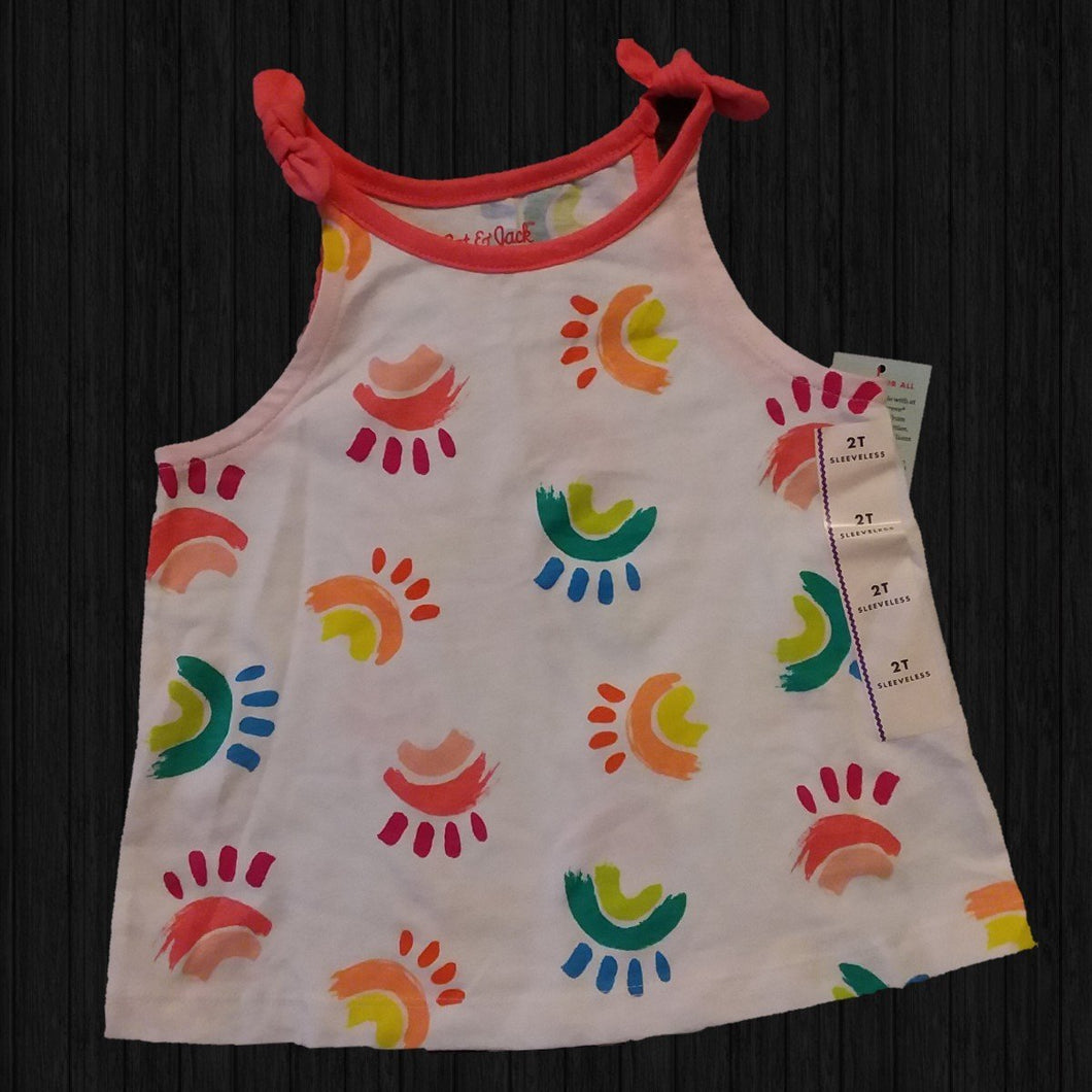 Rainbow Toddler Muscle Tank - LilChic BabyBug Boutique