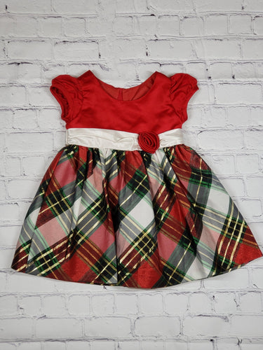 Red 18m Dress (used) - LilChic BabyBug Boutique LLC