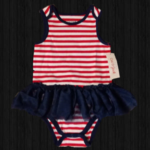 Red/White/Blue  TuTu Onesie - LilChic BabyBug Boutique