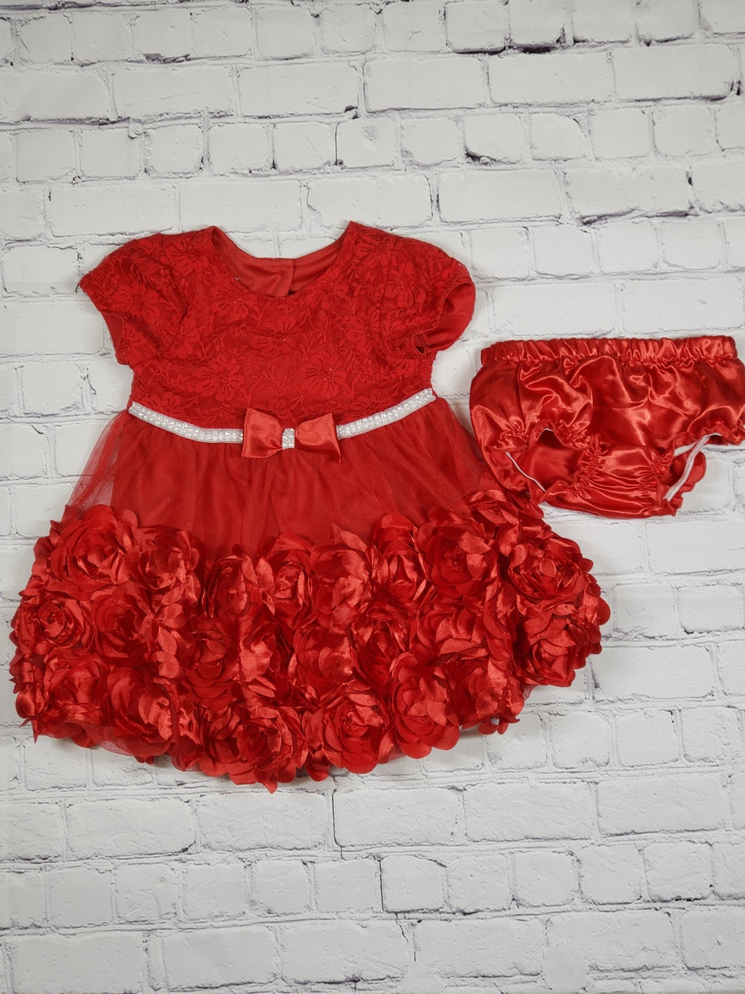 Rossy Red Dress (used) - LilChic BabyBug Boutique LLC