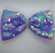 Load image into Gallery viewer, Sequin Bow - LilChic BabyBug Boutique