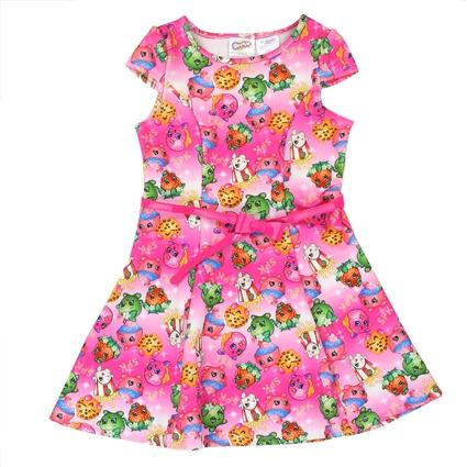 Shopkins Dress w/Belt - LilChic BabyBug Boutique
