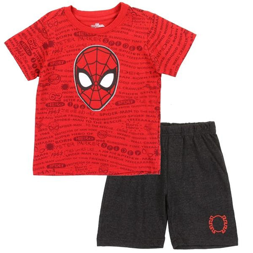 Spider-Man Toddler Short Set - LilChic BabyBug Boutique