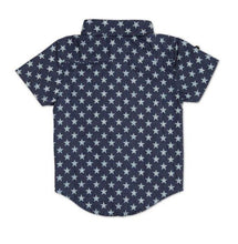 Load image into Gallery viewer, Stars Short Sleeve Dress Shirt - LilChic BabyBug Boutique LLC