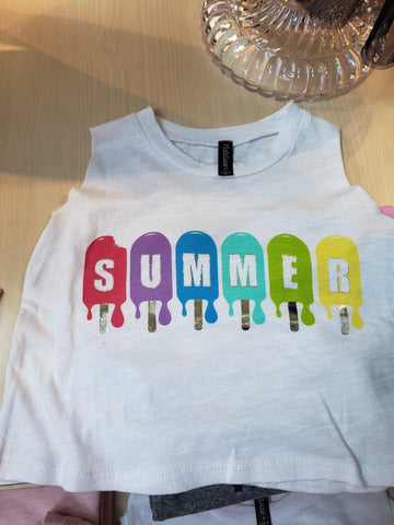 """Summer"" Muscle Tank - LilChic BabyBug Boutique"