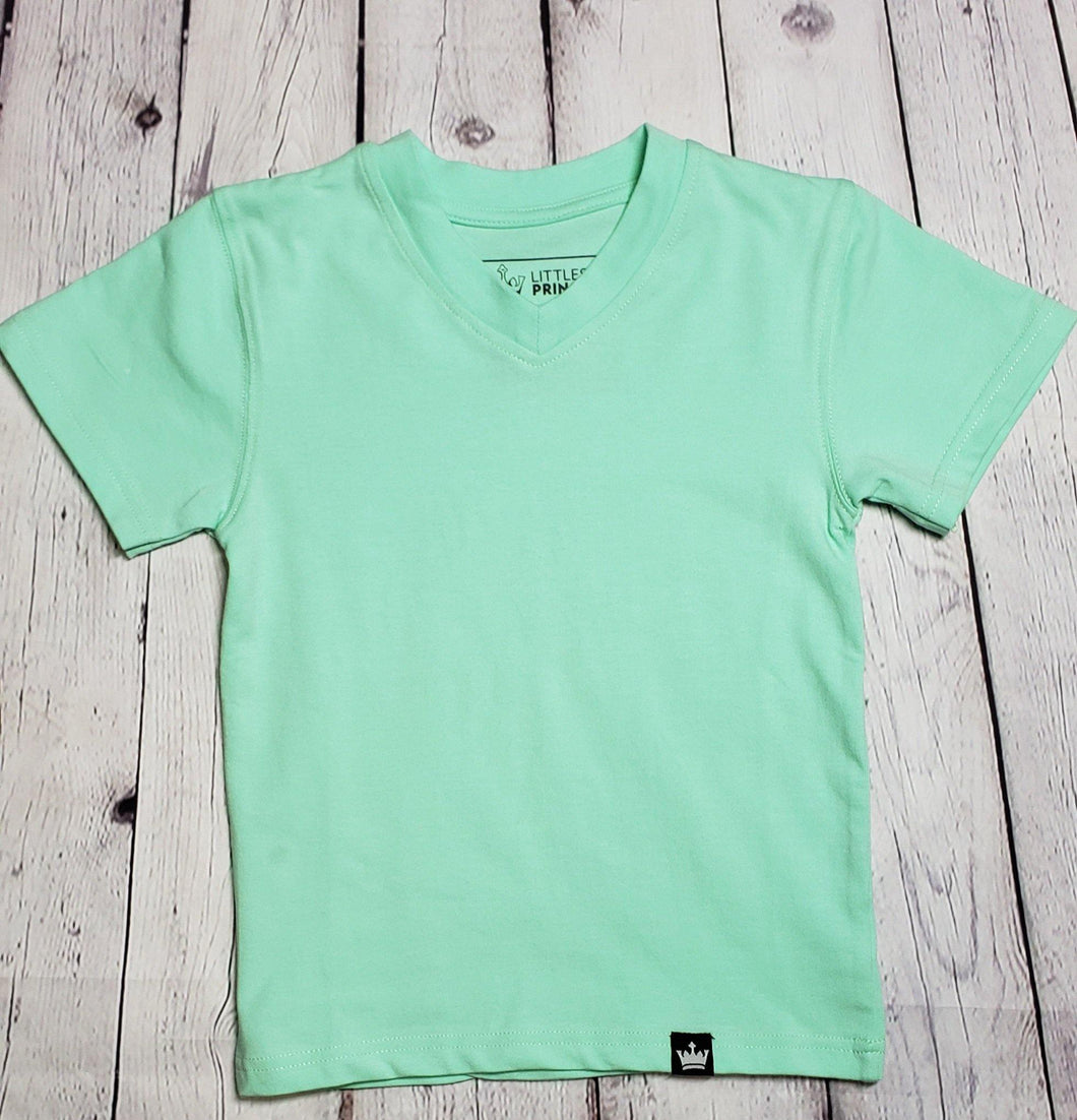 Teal Short Sleeve Tee - LilChic BabyBug Boutique LLC