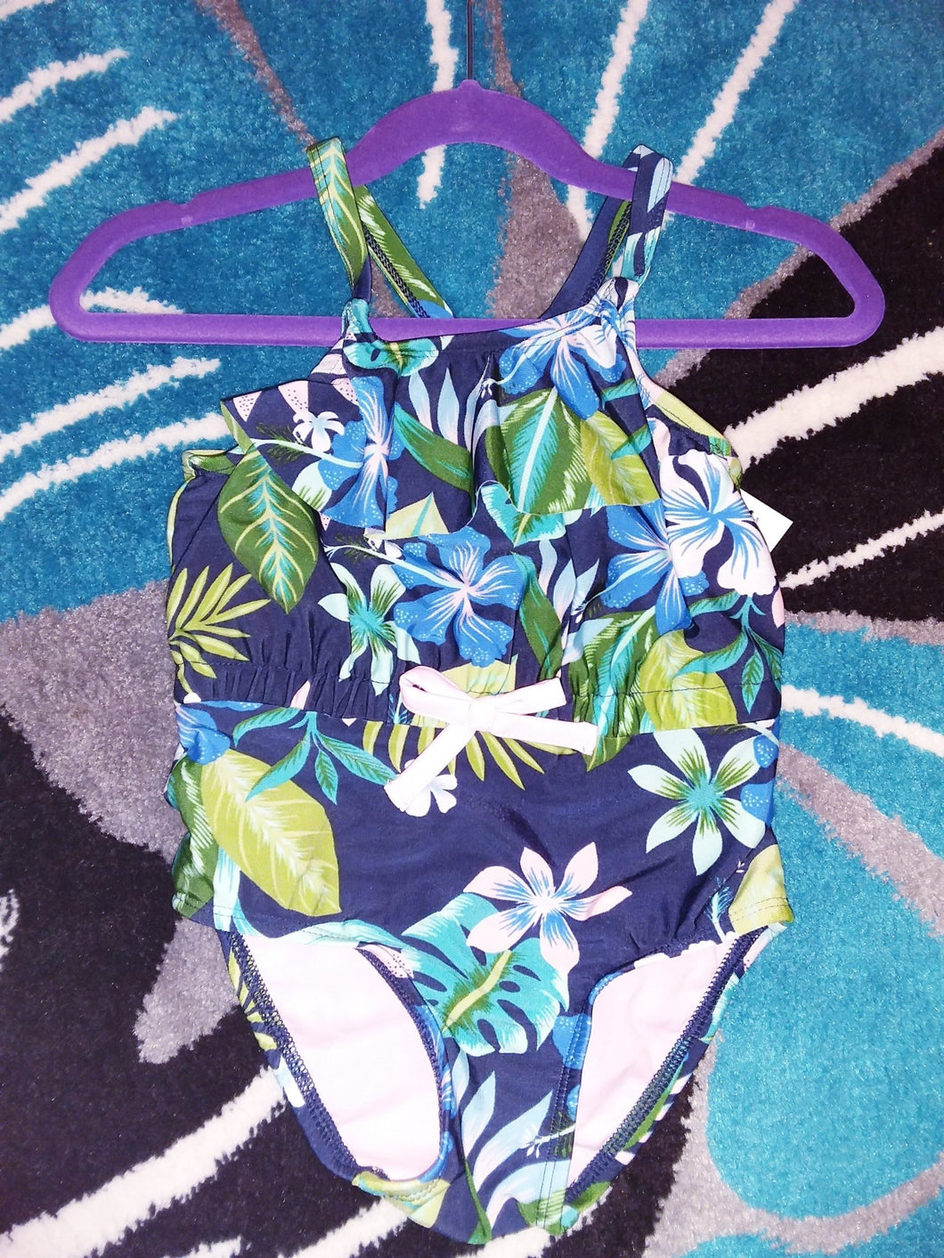 Toddler Floral Swimsuit - LilChic BabyBug Boutique