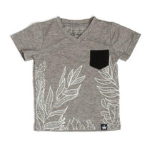 Load image into Gallery viewer, Tropical Gray & Black Tee and Bodysuits - LilChic BabyBug Boutique LLC
