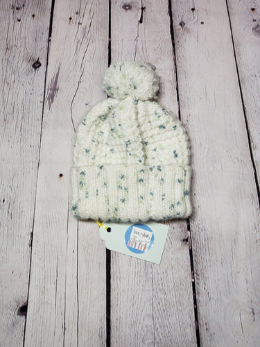 White Infant Pom-Pom Hat - LilChic BabyBug Boutique LLC