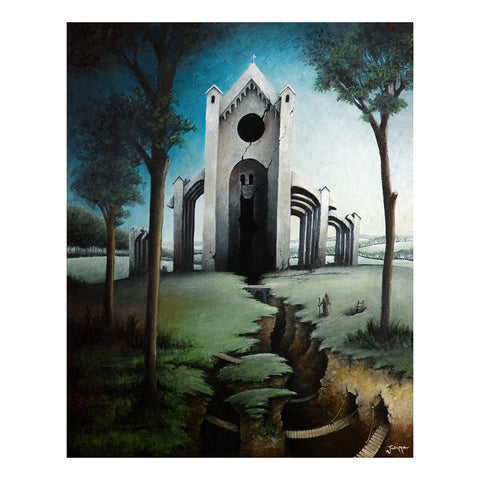 "<p>Ruins, 16x20"" Oil Painting on canvas by Justin D. Miller. <span data-mce-fragment=""1"">Ready to hang with wire.</span><br></p>"