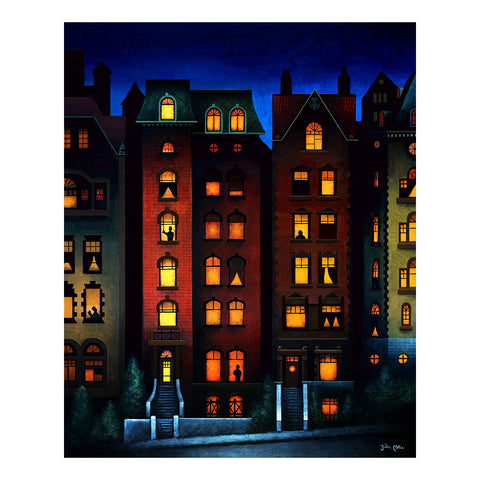 "<p>Brownstones, 16x20"" Oil Painting by Justin D Miller, on wood panel<br></p>"