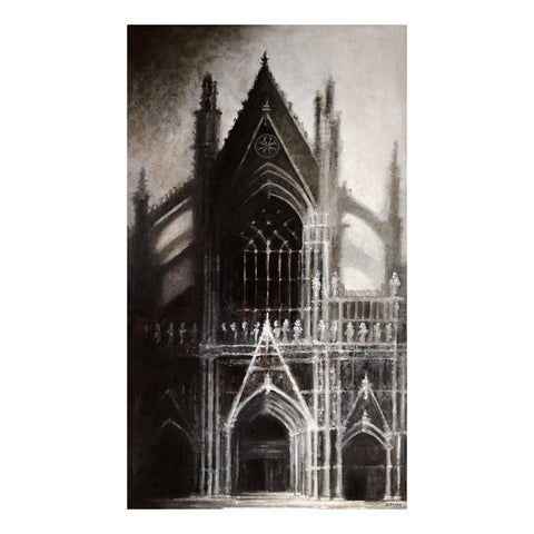 "Cologne Cathedral, 28x16"" Oil Painting"