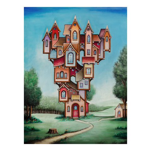 "<p>Doll House, 18x24"" Acrylic Painting by Justin D Miller, on masonite panel<br></p>"