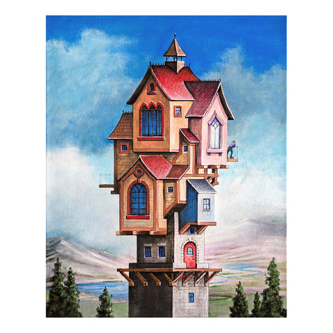 "<p>Tower House, 16x20"" Oil Painting by Justin D Miller, on canvas<br></p>"