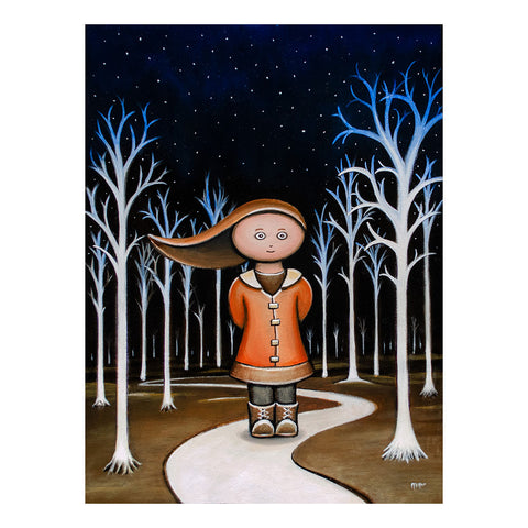 "<p>Winter Walk, 11x14"" Oil Painting by Justin D Miller.</p> <p>Ready to hang with wire. Frameless; edges are 3/4"" finished painted black. Painted on masonite wood panel with semi-gloss finish. Sticker on back with name, size, and my information.</p>"