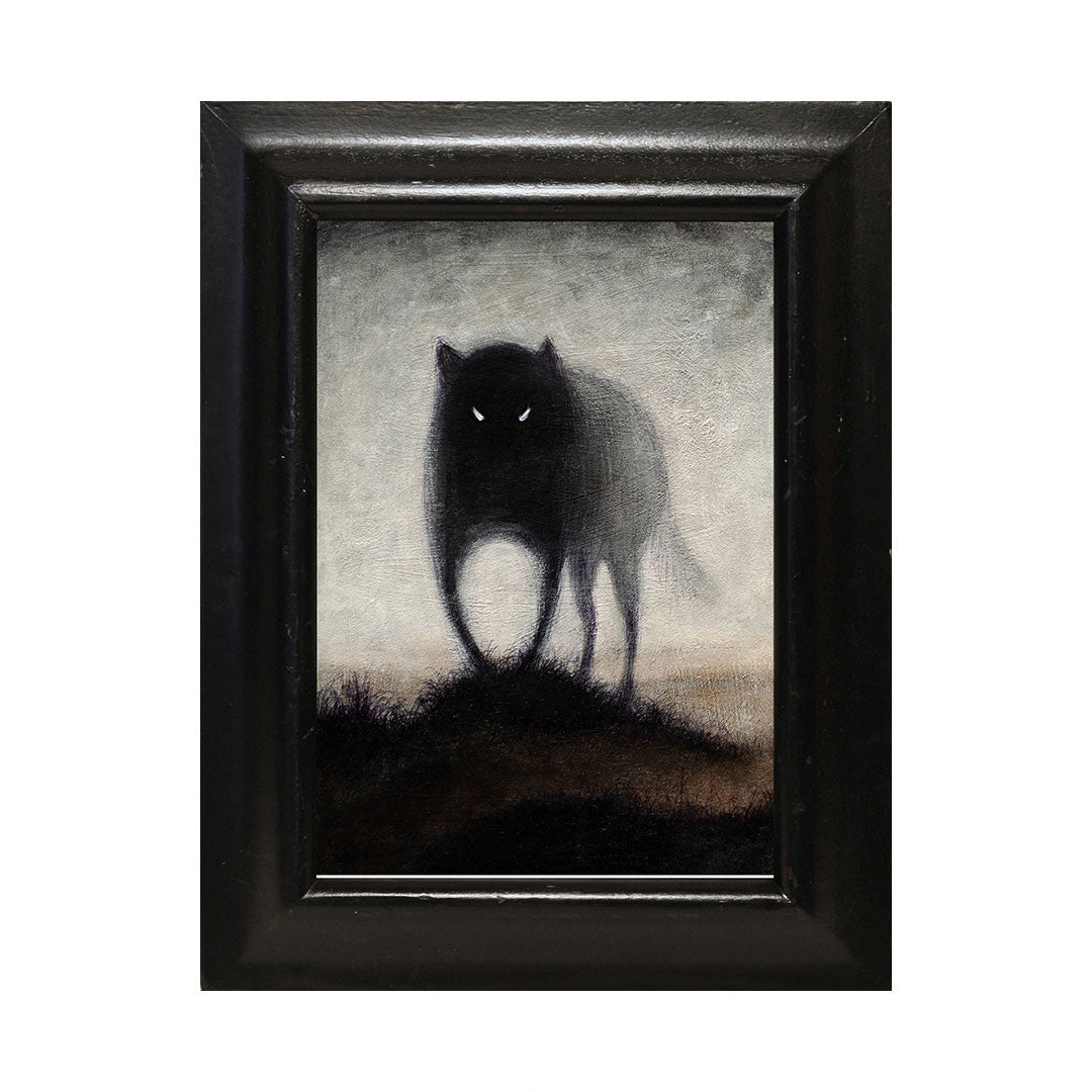 "<p>Wolf #2, 5x7"" Acrylic Painting by Justin D Miller. Comes with frame as shown, ready to hang with wire. All acrylic paintings are on masonite wood panel and have a semi-gloss finish. Size listed is of the painting size, not including frame. For fully framed size, please contact me.  Sticker on back with name, size, and my information.</p> <input id=""idg-io-safe-browsing-enabled"" type=""hidden"" oninit=""true"">"