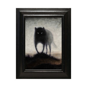 "Wolf #2, 5x7"" Acrylic Painting"