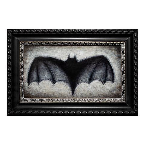 "Large Bat #2, 7x13"" Acrylic Painting"