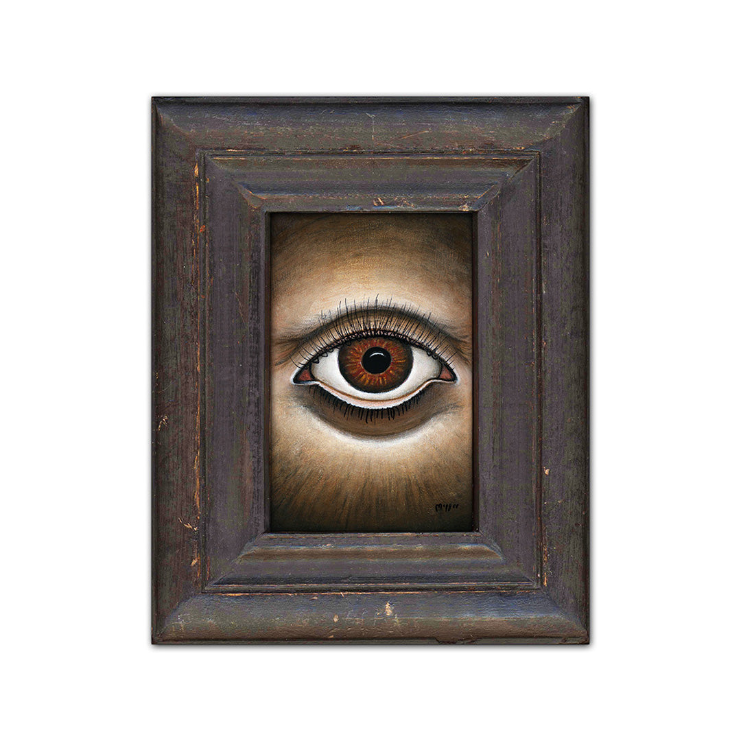 "Symmetrical Eye, 4x6"" Acrylic Painting"