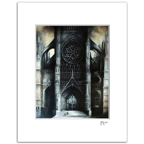 "Beauvais Cathedral, 11x14"" Matted Reproduction"