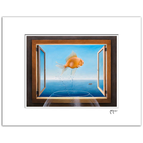 "Goldfish Dreams, 11x14"" Matted Reproduction"