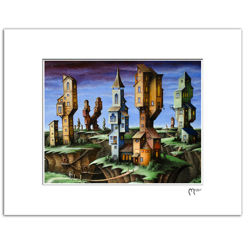 "Quake Village, 11x14"" Matted Reproduction"