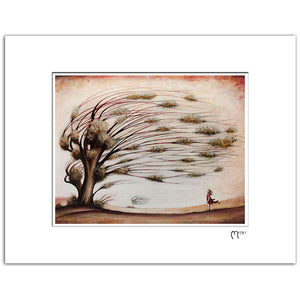"Wind, 11x14"" Matted Reproduction"