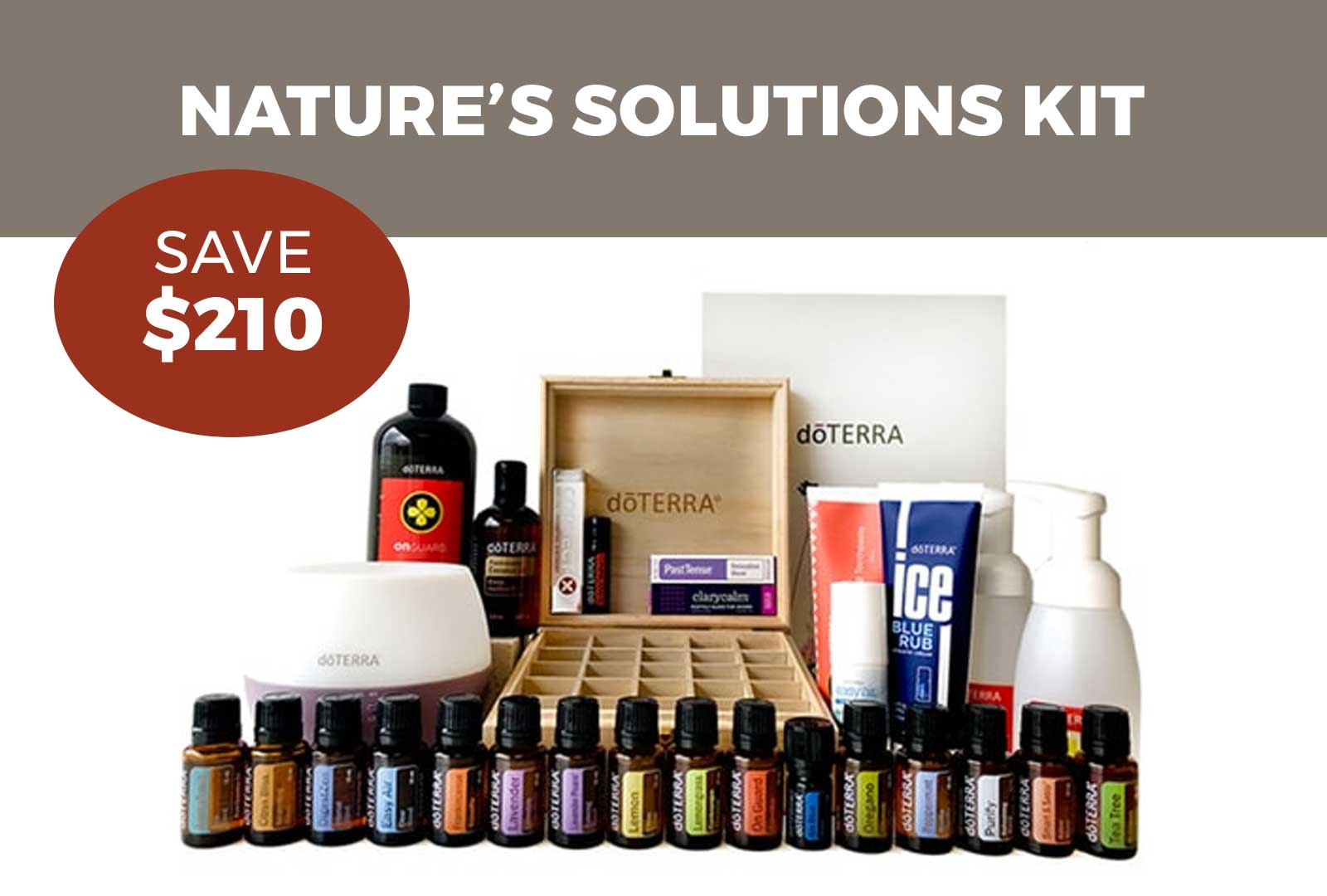 Nature's Solutions Kit with dōTERRA Wholesale Account