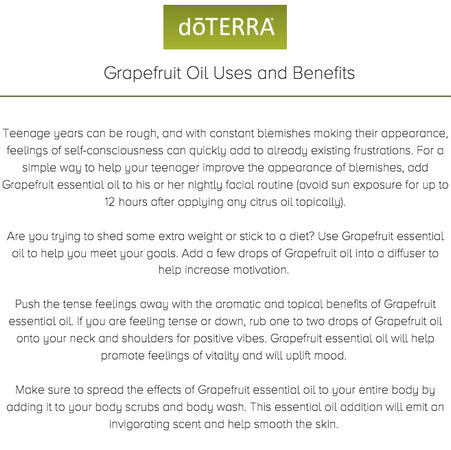 Grapefruit pure essential oil doterra