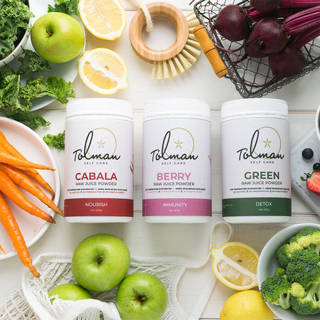 Raw Juice Powder Triple Pack by Tolman Self Care