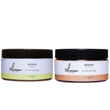 Renew Salt Scrub with 24k Gold |  Twin Pack by Don Tolman