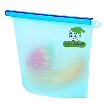 EZeLilly Multi-function, Airtight Leak-Proof  Reusable Silicone Food Storage bag