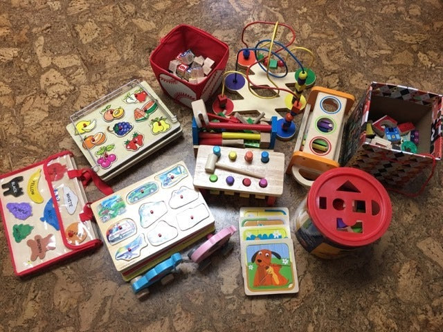 1st Holiday Give Away - Pre-loved wooden toys
