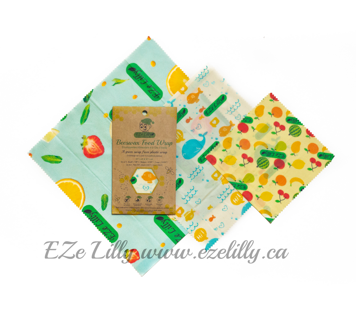 EZe Lilly Organic Cotton Beeswax Food Wrap