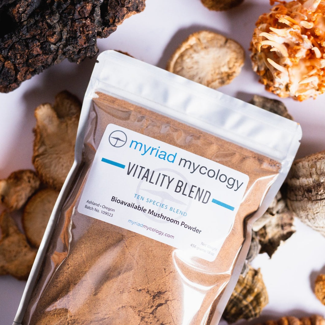 Vitality Blend Bioavailable Mushroom Powder