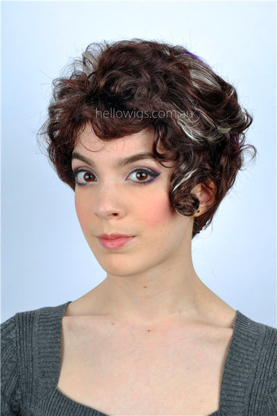Short mixed curly